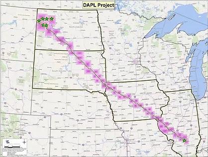 Natural Gas Pipeline In Dapl Terrirory